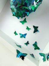 Load image into Gallery viewer, Watercolour Butterfly collage in Emerald Green
