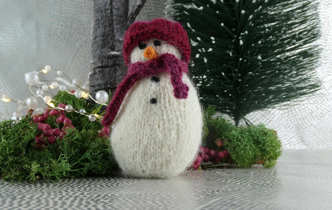 Knitted Christmas Snowman decoration