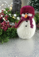 Load image into Gallery viewer, Knitted Christmas Snowman decoration