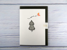 Load image into Gallery viewer, Hand drawn Greetings Card (Rabbit with coral butterfly)