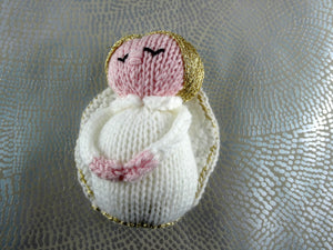 Knitted Christmas Angel decoration