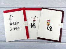 Load image into Gallery viewer, Hand drawn Greetings Card (Love with plant pot)