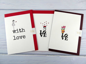 Hand drawn Greetings Card (Love with plant pot)