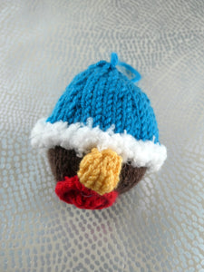Knitted Robin Christmas tree decoration