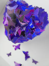 Load image into Gallery viewer, Watercolour Butterfly collage in Purple