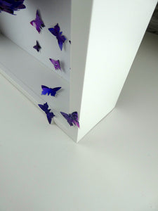 Watercolour Butterfly collage in Purple