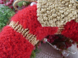 Knitted Christmas Wreath
