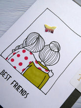 Load image into Gallery viewer, Hand drawn Greetings Card for your Best Friend