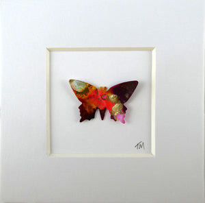 Gold and Rust framed butterfly (B1)