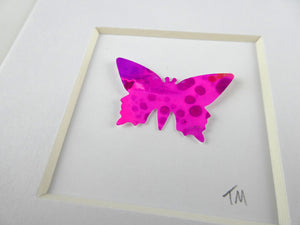 Bright Pink framed butterfly (B3)