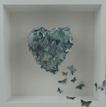 Load image into Gallery viewer, Watercolour Butterfly collage in Grey