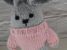 Load image into Gallery viewer, Small teddy in pink jumper.
