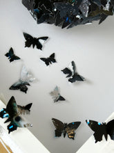 Load image into Gallery viewer, Watercolour Butterfly collage in Black and Silver