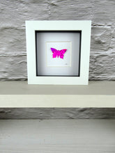 Load image into Gallery viewer, Bright Pink framed butterfly (B3)