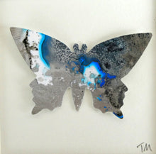 Load image into Gallery viewer, One Silver and Blue Butterfly B17