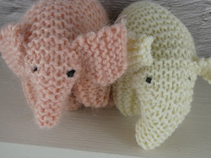 Knitted Pink elephant