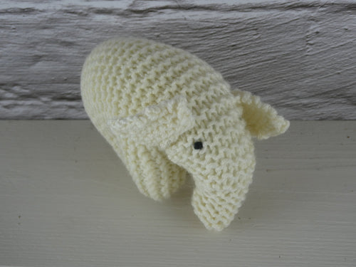 Knitted White elephant