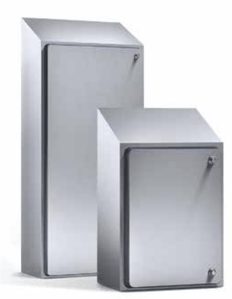 Hygienic Sloped Roof Enclosure - Wall Mounted, IP69K - 24x15x8