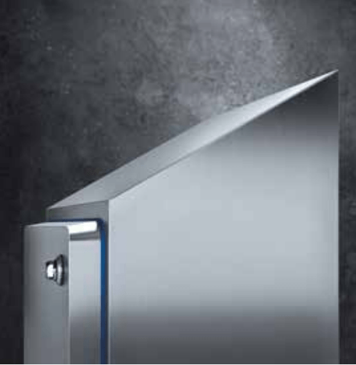 Hygienic Sloped Roof Enclosure - Wall Mounted, IP69K - 24x24x8