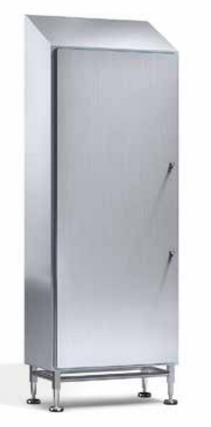 Hygienic Compact Sloped Roof Cabinet - 71'' Height Modular, Single Door, Fully Enclosed, IP69K