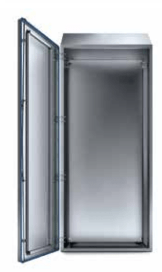 Hygienic Compact Sloped Roof Cabinet - 79'' Modular, Single Door, Fully Enclosed, IP69K
