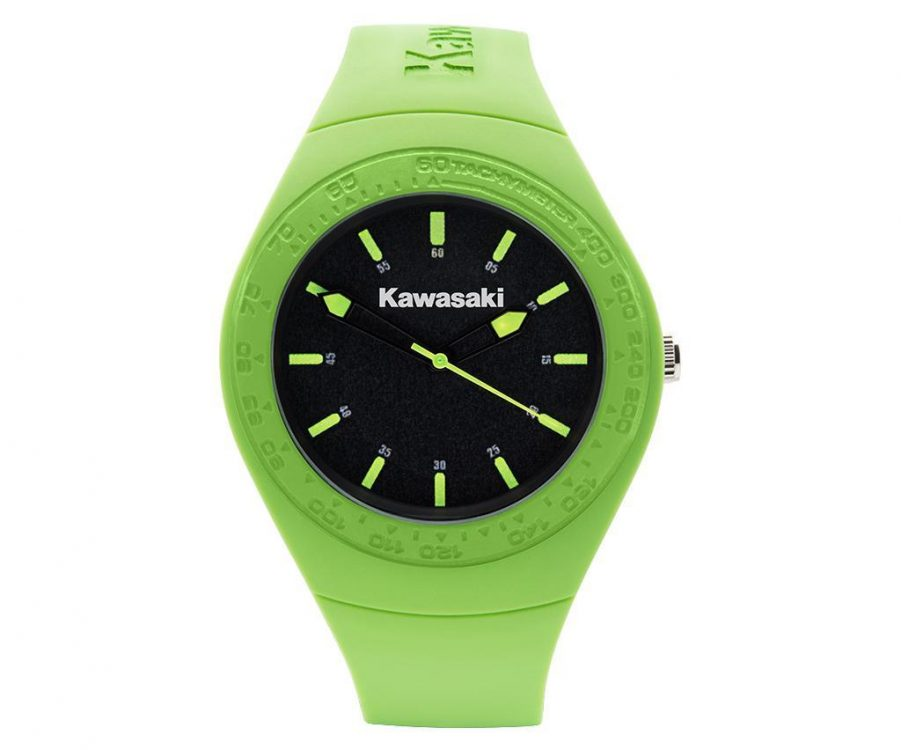 Kawasaki Green Silicone Watch