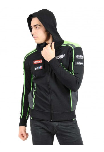 Kawasaki Racing Team Official SBK Replica Hooded Sweatshirt - 2017 range