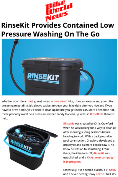 Bike World News Features RinseKit