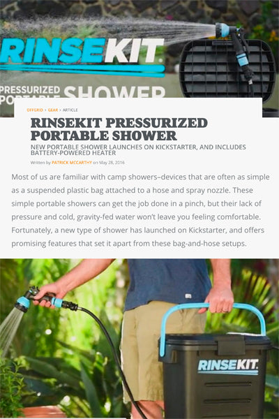 Off Grid Magazine Features RinseKit