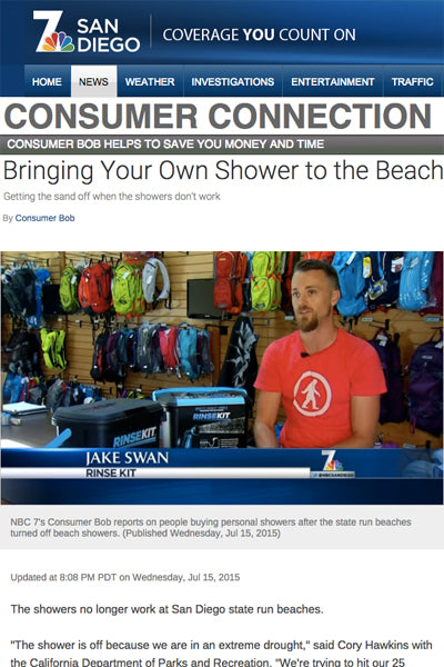 NBC San Diego Features RinseKit for Shower Shutoff Story