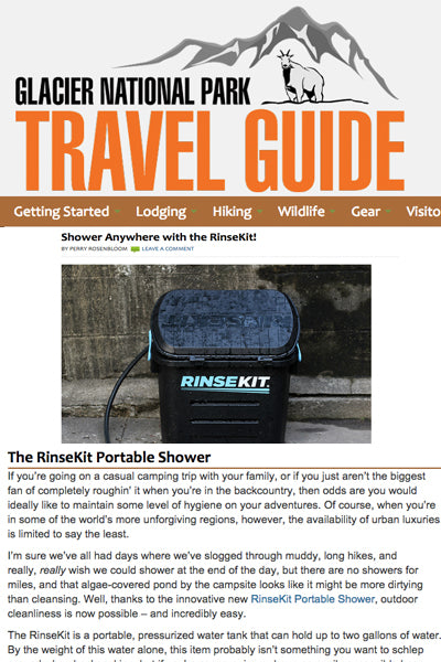 Glacier National Park Travel Guide Features RinseKit