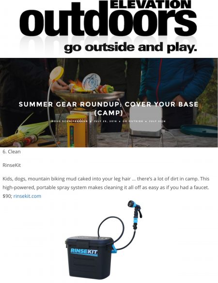 Elevation Outdoors Features RinseKit