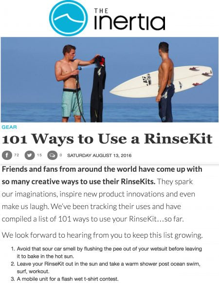 The Inertia: 101 Ways to Use a RinseKit