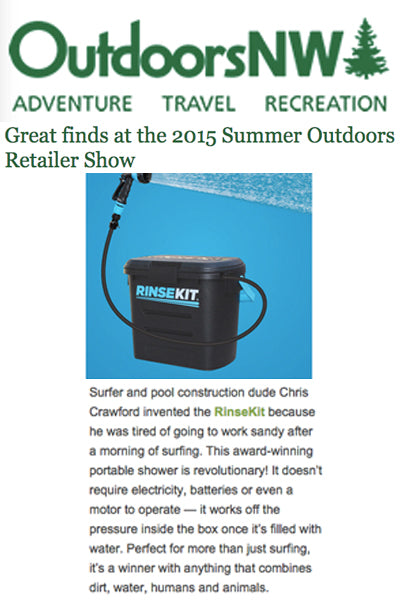 Outdoors NW Highlights RinseKit at OR