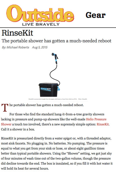 Outside Reviews RinseKit