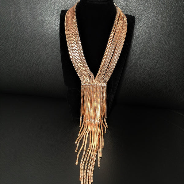 Long V- Shaped Necklace