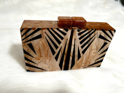Marble Effect Clutch Bag