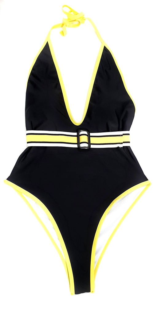 One Piece Swimsuit with A Belt