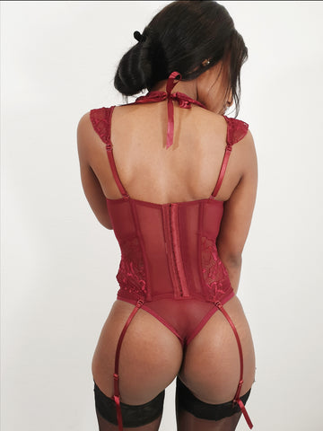 Charlize 3pcs Corset with Garters