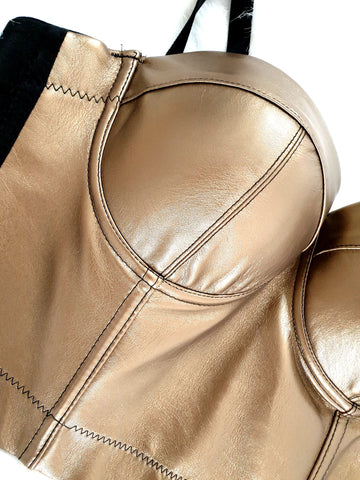 Fergie Leather Bustier