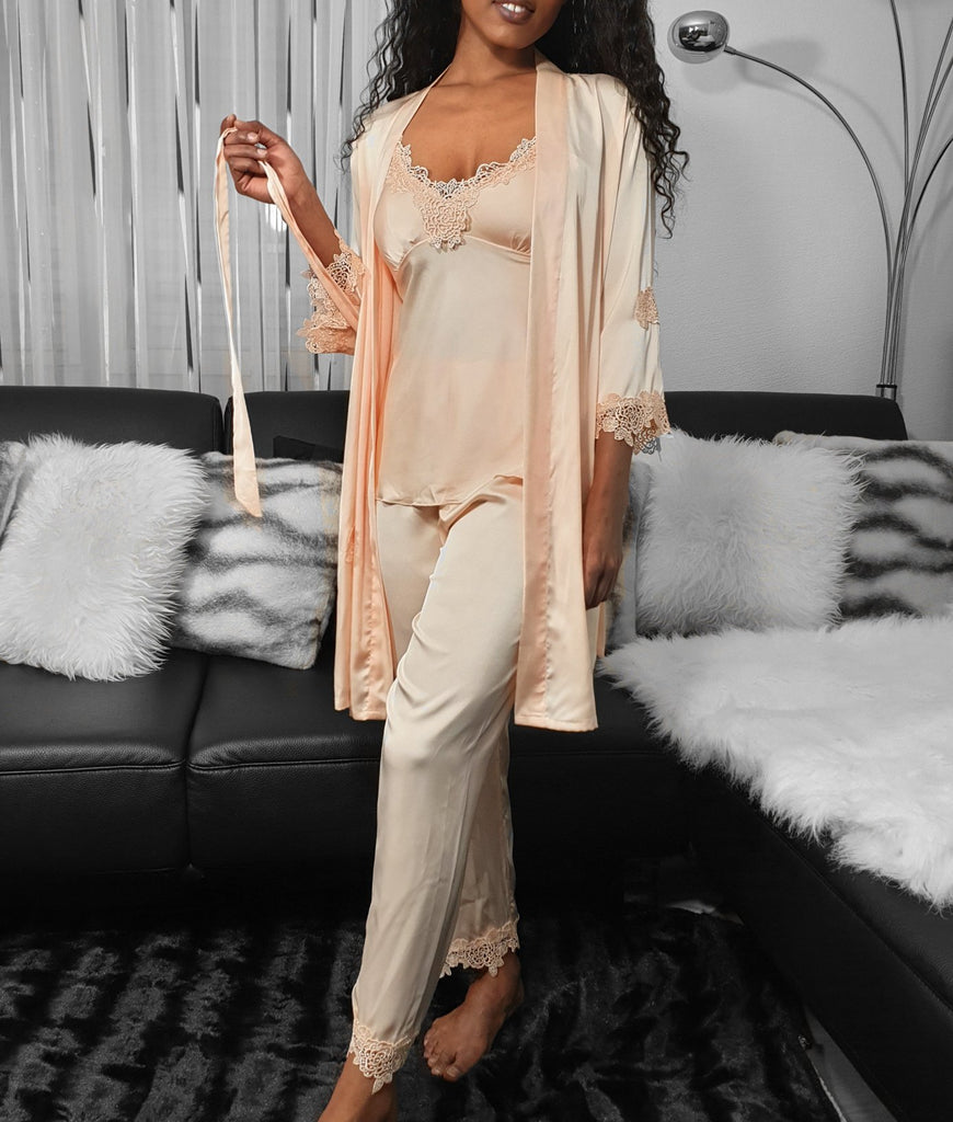 5 Piece Silky Sleepwear