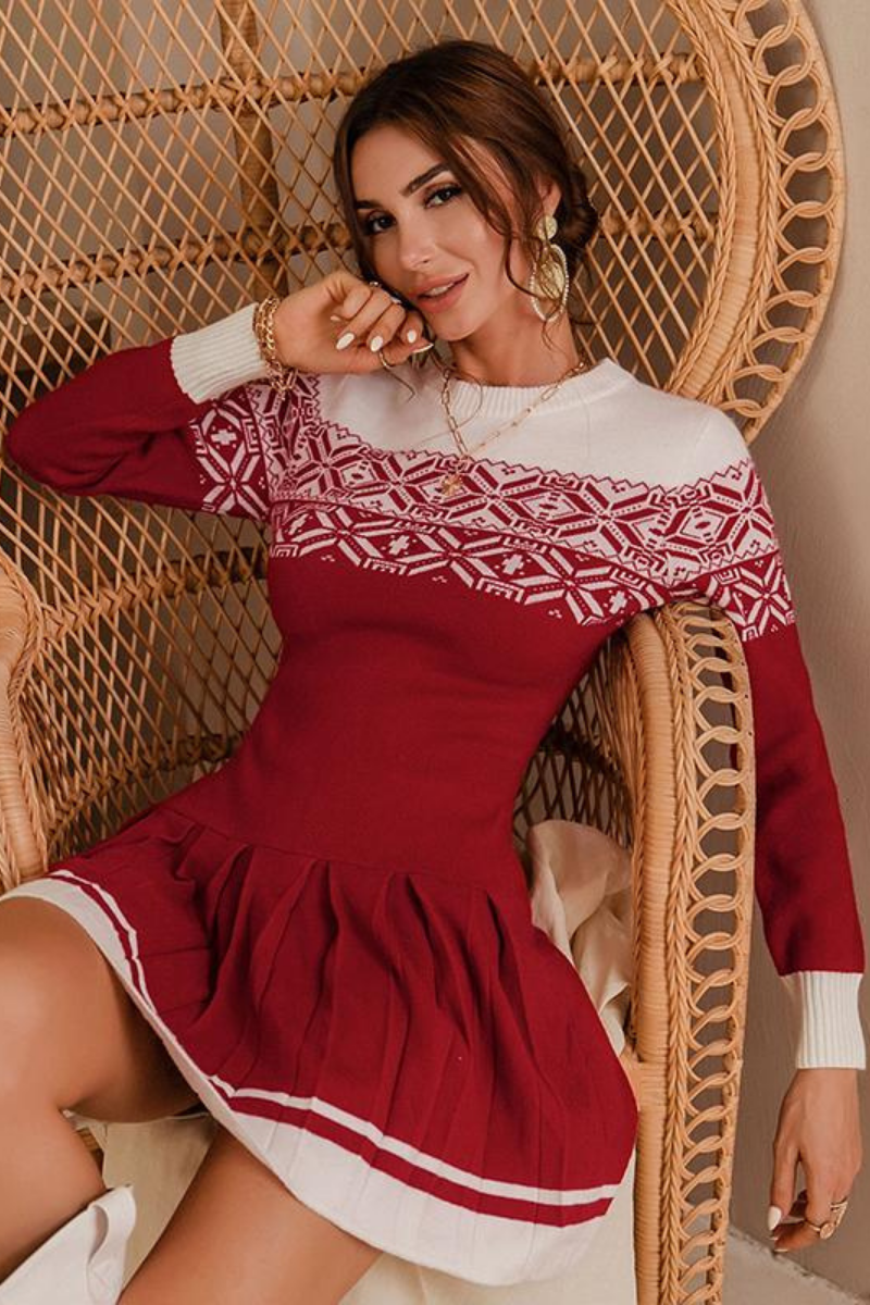 Rina Long Sleeve Sweater Dress