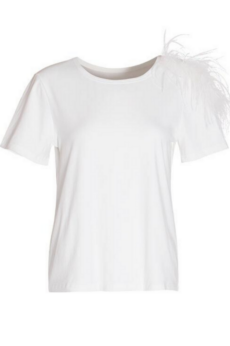 Delia Feathered Top