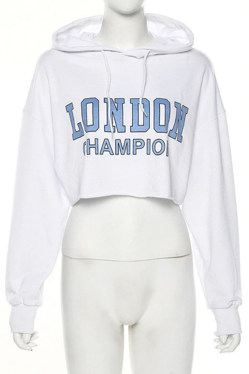London Champ Cropped Hoodie
