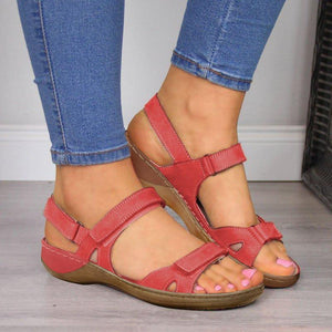 Lace-up Hook&Loop Open Toe Woman Sandals
