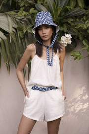 BY M.A.R.Y Accessories Belt - White Denim & Wax