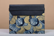 BY M.A.R.Y Accessories Blue and Golden Flowers; Febe Clutch - Blue and Golden Flowers