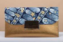 Load image into Gallery viewer, BY M.A.R.Y Accessories Bronze and Golden Stars Vashti Clutch - Bronze and Golden Stars
