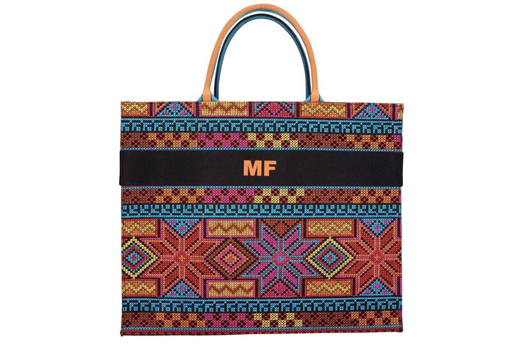 BY M.A.R.Y Accessories Embroidered Personalized Handmade Tote Bag