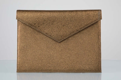 BY M.A.R.Y Accessories Metallic Bronze Zahra Clutch - Metallic Bronze
